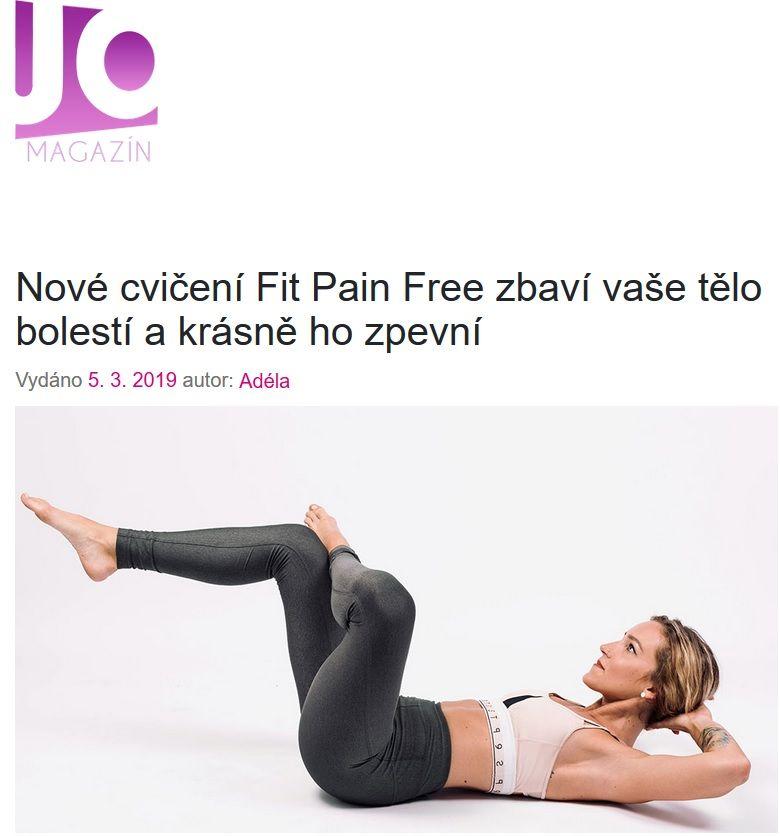 FitPainFree Hanka Toufarová jo magazín